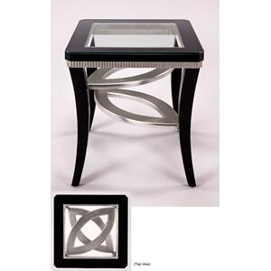 End Table with Glass 24x24x26.5""