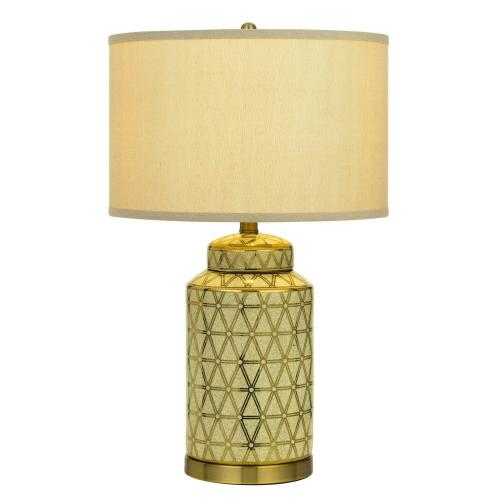 Barletta Ceramic Table Lamp With Hardback Fabric Shade (Sold And Priced As Pairs)