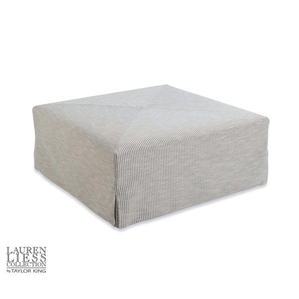 Town Slipcovered Ottoman