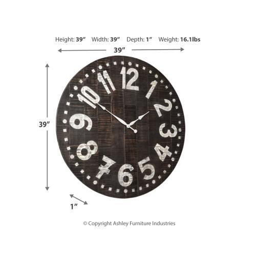 Signature Design By Ashley - Brone Wall Clock