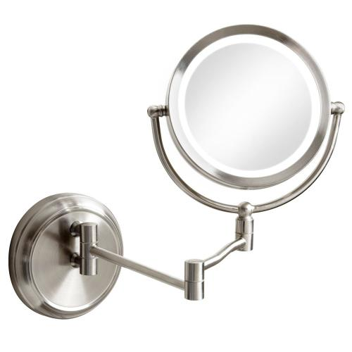 5x Swing Arm LED Lighted Magnifier Mirror