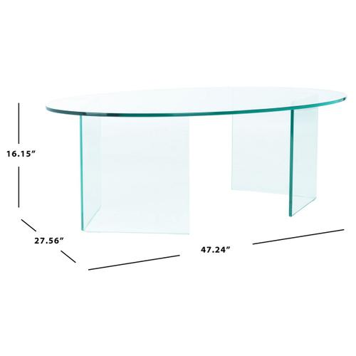 Safavieh - Carsten Tempered Glass Coffee Table - Clear