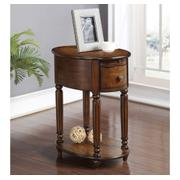 Oval Chairside Table W/power Outlet (rta) Product Image