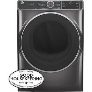 GE® 7.8 cu. ft. Capacity Smart Front Load Electric Dryer with Steam and Sanitize Cycle Product Image