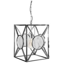 See Details - Fernhill 13x16.8 Silver/Frosted Glass Square Pendant Light