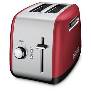 2-Slice Toaster with manual lift lever - Empire Red - EMPIRE RED