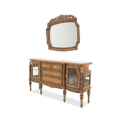 Excursions Sideboard w/Mirror 2 pc Caramel Cashmere