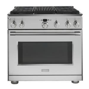 "MonogramMonogram 36"" Dual-Fuel Professional Range with 4 Burners and Grill (Natural Gas)"