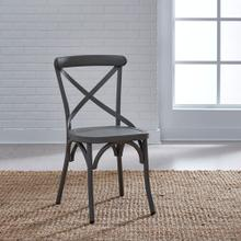 X Back Side Chair - Grey