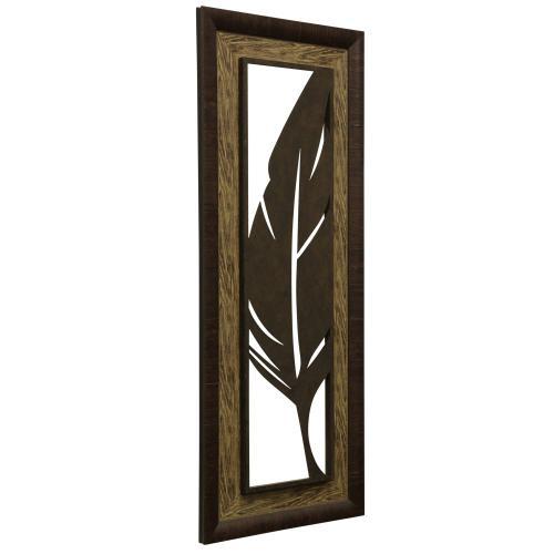 Style Craft - Metal Laser Cut Palm Leaf II  2-Step Framed Panel