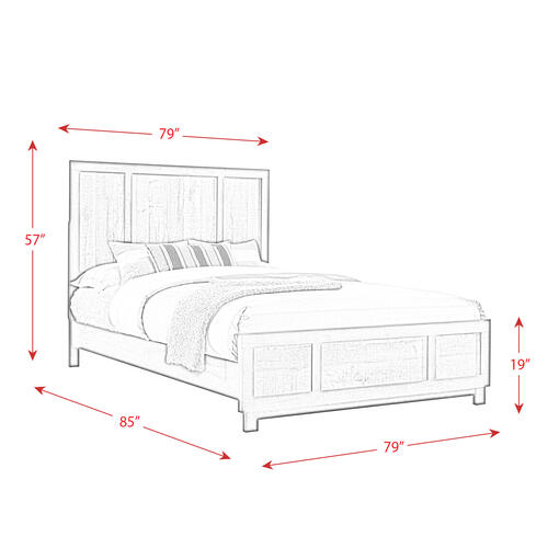 Elements - Harlington King Panel Bed