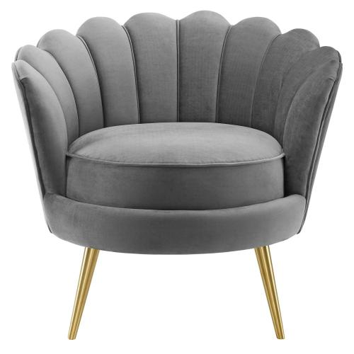 Admire Accent Armchair Performance Velvet Set of 2 in Gray