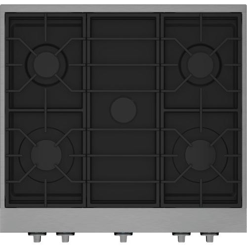 """30"""" Stainless Steel Pro-Style Built-in Gas Range Top"""
