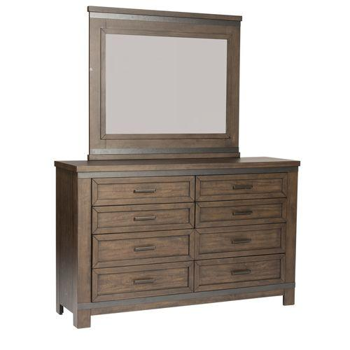 Liberty Furniture Industries - Queen Two Sided Storage Bed, Dresser & Mirror
