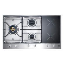 36 3-burner Segmented Cooktop, 2 Induction