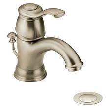 Kingsley brushed nickel one-handle bathroom faucet