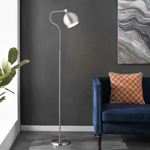 Elijah Iron Floor Lamp - Nickel