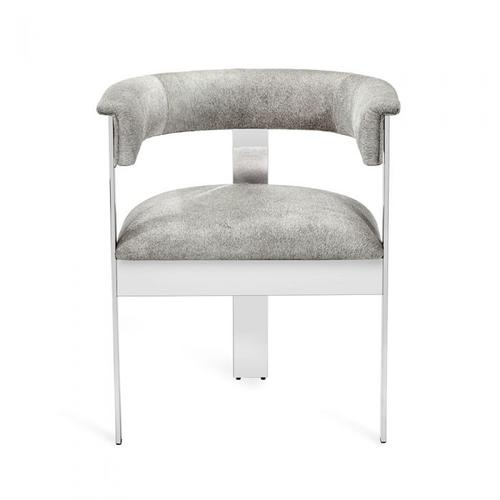 Darcy Hide Chair - Nickel