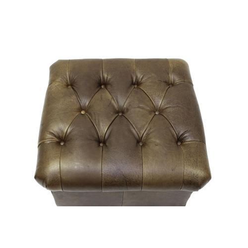 L.M.T. Rustic and Western Imports - Sitara Ottoman W/Gemsbok Leather