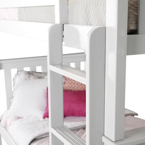Jackpot Kids Furniture - Twin/Twin Bunk   Trundle Storage White