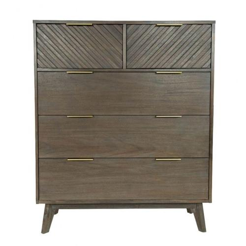 Modrest Daisy Mid-Century Dark Acacia Chest