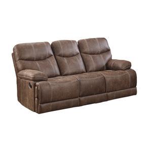 Emerald Home Earl Motion Sofa Sanded Micro Brown U7128-00-25