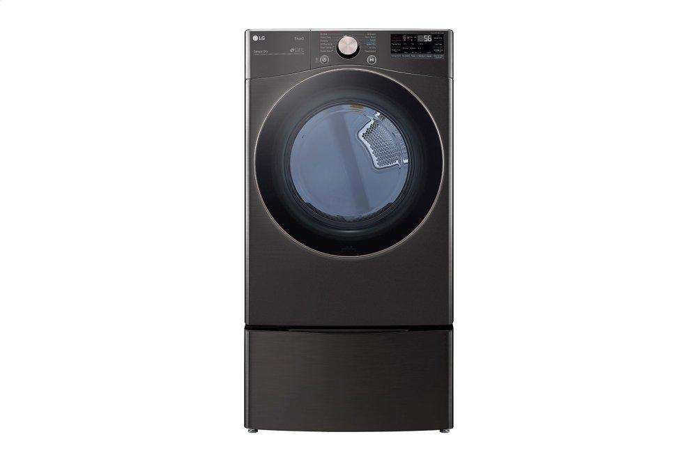 LG Appliances7.4 Cu. Ft. Ultra Large Capacity Smart Wi-Fi Enabled Front Load Electric Dryer With Turbosteam(tm) And Built-In Intelligence