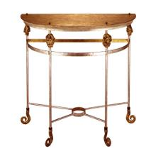 See Details - Armory Demi-Lune console Table