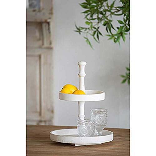 Norline Wooden 2-Tiered Tray