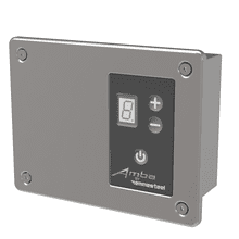 Remotely-wired Digital Heat Controller - Satin Brass