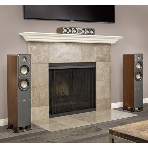 American HiFi Home Theater Slim Center Speaker in Classic Brown Walnut