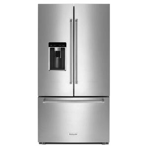 "KitchenAid23.8 cu. ft. 36"" Counter-Depth French Door Platinum Interior Refrigerator - Stainless Steel"