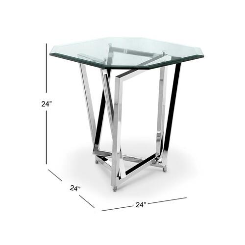 Octoganal End Table