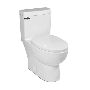 White MALIBU II Two-Piece Toilet, 10-in Rough-in Product Image