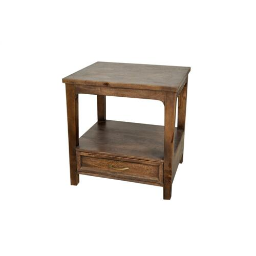 Rosemont 1 Drawer Square End Table