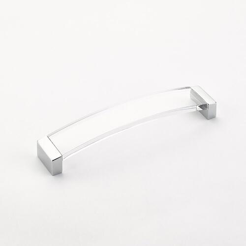 Positano, Pull, Arched, Polished Chrome, 224 mm cc