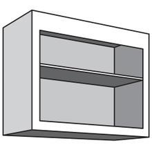 "See Details - Variable Bridge Top Unit, Open Shelves and One Adjustable Shelf, 12""d, 30""w "" 42""w"