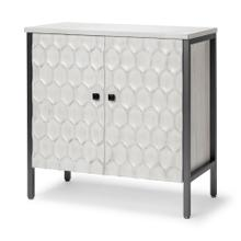 Savannah I 32L x 16W White Wood And Iron 2 Door Accent Cabinet