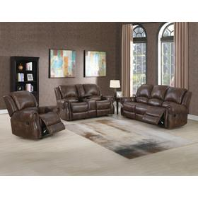 Navarro 3-Piece Manual Motion Set (Sofa, Console Loveseat and Recliner)