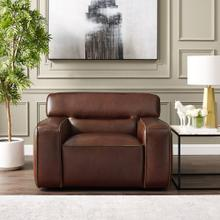 SU-AX6816-C  Leather Armchair  Brown