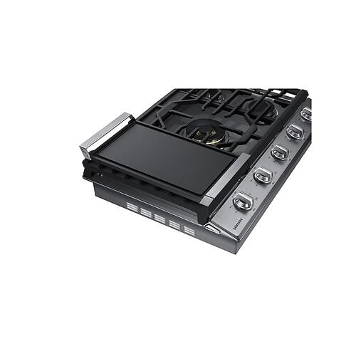 "30"" Gas Cooktop with 22K BTU Dual Power Burner in Stainless Steel"