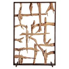 Soleil Reclaimed Teak Root Divider, Natural