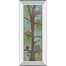 """Fantasy Owls Panel Il"" By Paul Brent Mirror Framed Print Wall Art"