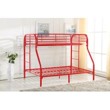 7537 RED Metal Bunk Bed