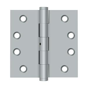 "4"" x 4"" Square Hinges - Brushed Chrome"