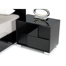 Modrest Grace Italian Modern Black Nightstand