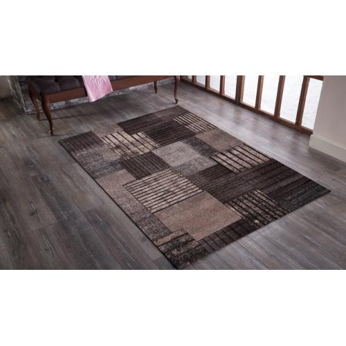 "Power Loomed Hand Carved Geometric Design Tara 307 Area Rug by Rug Factory Plus - 7'6"" x 10'3"""