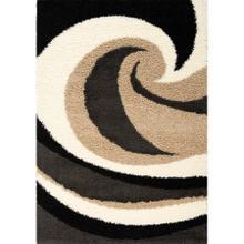 Shaggy 1950 Beige Charcoal 6 x 8