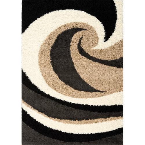 Shaggy 1950 Beige Charcoal 8 x 11