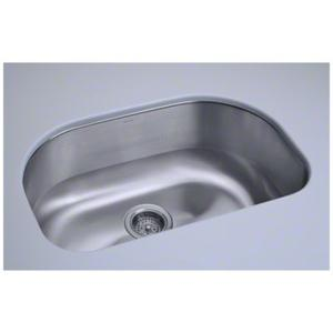 "Cinch® 26.4"" x 16.8"" x 9"" Undercounter D-Bowl Sink Product Image"